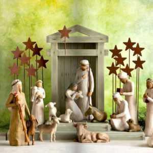 WILLOW TREE Krippenfiguren einzeln & Set NEU/OVP Krippe Weihnachten Krippenstall
