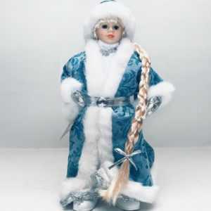 Snegurotschka 28 cm Weihnachtsmann Weihnachtsfigur Снегурочка Schneemädchen