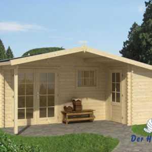 44mm Gartenhaus 530x450 cm Blockhaus Gerätehaus Holzhaus Holz Schuppen Holzhütte