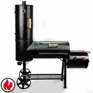 TAINO CHIEF 130 KG Smoker BBQ Grillkamin Räucherofen Holzkohle Grill 3,5mm Stahl
