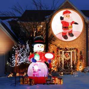 Led Schneemann Schneefall Beleuchtet Aufblasbar snowman outdoor weihnachtsdeko