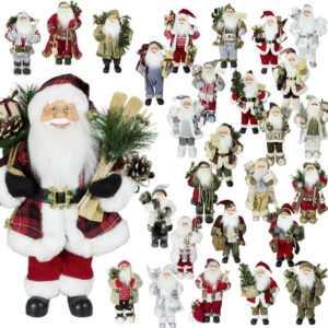 Weihnachtsmann Dekofigur 45cm Nikolaus Santa Weihnachts Dekoration Weihnachten