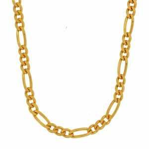 2,8 mm 50 cm 585 - 14 Karat Gelbgold Figarokette  Gold  Halskette 9,8 g