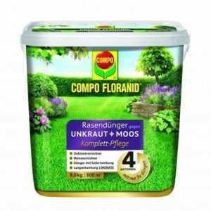 (5,74€/1kg) Compo Floranid Rasendünger gegen Unkraut + Moos Komplettpflege 9 kg
