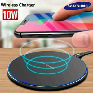 Qi Wireless Ladestation Charger Ladegerät kabellos Induktion iPhone und Samsung