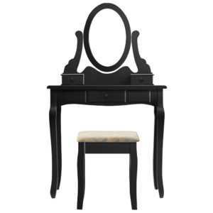 Makeup Dressing Table Kosmetiktisch Frisiertisch Tisch Kommode Spiegel mit Stuhl