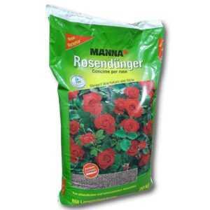 Manna Rosendünger 20 kg Blumendünger Gartendünger Beetdünger Blüten Dünger