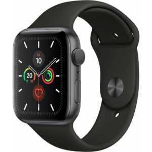 Apple Watch Series 5 GPS WIFI 32GB spacegrey 44mm mit Sport Band Smartwatch