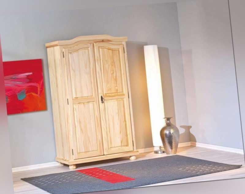 Schrank Kleiderschrank Dielenschrank Genf Kiefer Massivholz natur lackiert