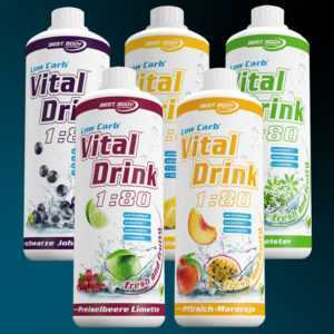 9,40€/Ltr) Best Body Nutrition Low Carb Vital Drink 5x1 Ltr. Getränkekonzentrat