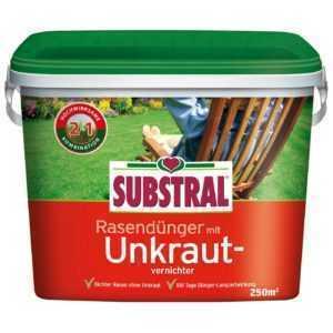 Substral Rasen-Dünger mit Unkrautvernichter 5 kg für 250 qm