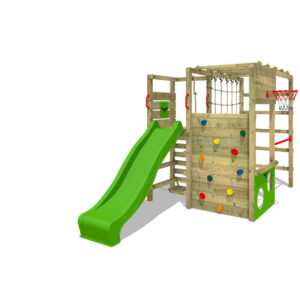 FATMOOSE Klettergerüst Spielturm ActionArena Air XXL Garten Kletterturm aus Holz