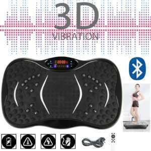 3D Vibrationsplatte Ganzkörper Fläche Trainingsgerät rutschfest große Fitness DE
