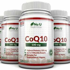 CoQ10 100mg, 5 x 120 Koenzym Kapseln 100% Garantie Nu U Nutrition