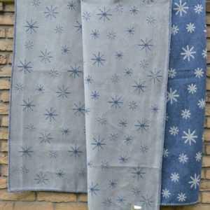 David Fussenegger Deco Sterne allover jean-blau 130x200 neu Decke