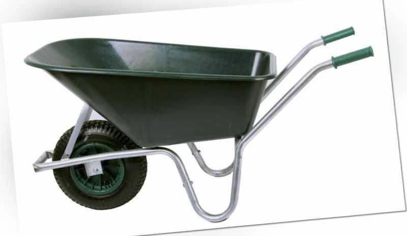 Schubkarre PROFI 100 ltr. 250kg, PVC grün (Baukarre Bauschubkarre Garten-Karre)
