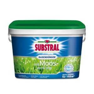 Rasendünger plus Moosvernichter 5 kg Moos Vernichter Moosfrei Rasen Substral