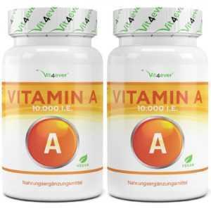 VITAMIN A  480 Tabletten á 20 mg - 10.000 I.E  / 3000 µg Hochdosiert
