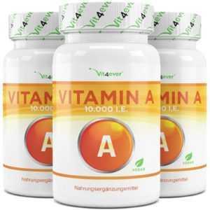VITAMIN A  720 Tabletten á 20 mg - 10.000 I.E  / 3000 µg Hochdosiert