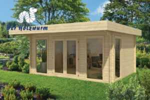 44 mm Gartenhaus 500x380cm Blockhaus Gerätehaus Holzhaus Holz Schuppen Pavillion