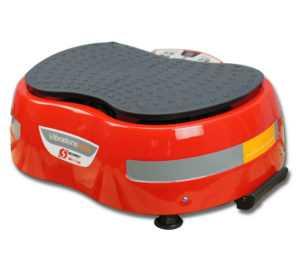 Vibrationsplatte rot Vibrationstrainer Power Platte Ganzkörpertraining Ausdauer