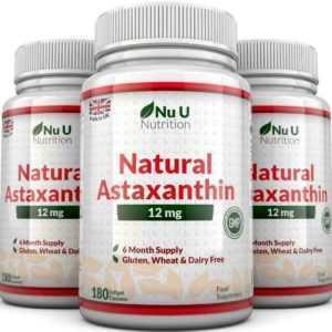 Astaxanthin 12mg - 3 X 180 Softgel (6 Monatsvorrat) Super Stark Astaxanthin