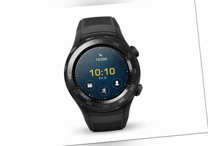 Huawei Watch 2 Smartwatch mit schwarzem Sportarmband