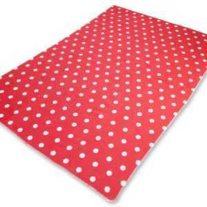 Fussenegger Allzweckdecke Babydecke rot-weiß gepunktet 70x90 cm