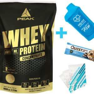 Peak Whey Protein Concentrate 1000 g Eiweiß Konzentrat / Glutamin BCAA + BONUS