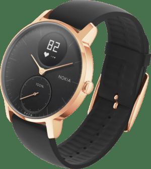 Nokia STEEL HR ROSE GOLD, 36mm black Activity Fitness-Tracker Pulsuhr