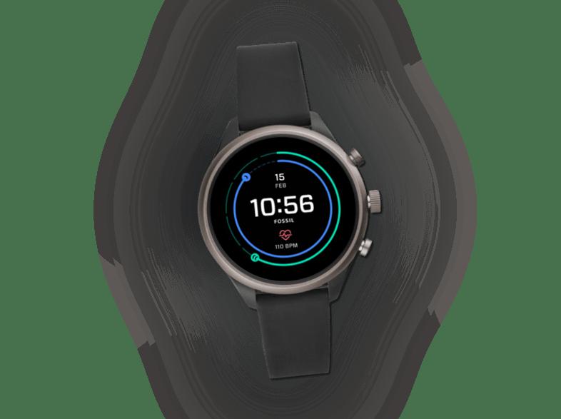 Fossil FTW6024 Sport Smartwatch Aluminium Silikon 190mm Schwarz/Grau NEU OVP