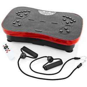Vibrationsplatte Slim mit Fernbedienung und Expanderbänder