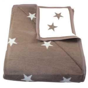 Wohndecke Stars mit Einfassband 150 x 200 cm Sterne 58% Baumwolle