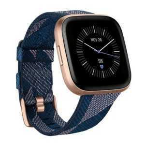 Fitbit Versa 2 Special Edition Gesundheits- und Fitness-Smartwatch blau rosa
