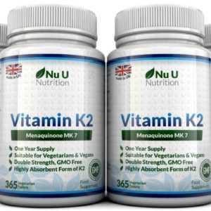 Vitamin K2 Menachinon Mk-7 200mcg 365 4 Flaschen Vegetarisch,Vegan Tabletten