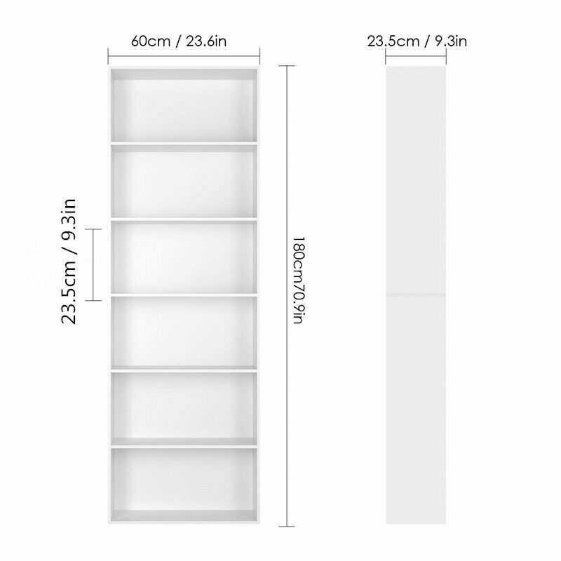 Raumteiler 6 Fächer Bücherregal Standregal Aktenregal Raumtrenner CD Regal Weiß