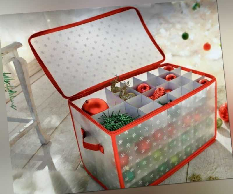 Weihnachtskugel Organizer NEU Tasche Box für Kugeln zum aufbewahren