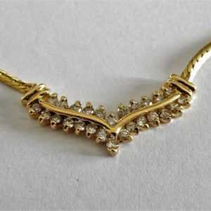 schönes Brillant Collier 585 Gold 14K 0,78 ct. Brillanten Länge 41,5 cm (B964)