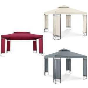 Gartenpavillon Pavillon Festzelt Partyzelt Stahl 3x3 m oder 3x4 m Beige Grau Rot