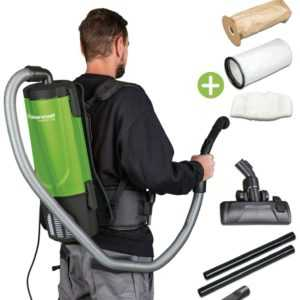 Industrie-Rucksacksauger Staubsauger Cleancraft flexCAT 104 + Düsensatz