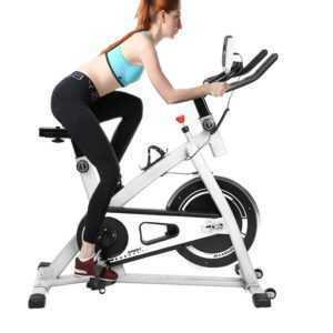 Heimtrainer Fahrrad Fitness Bike Trimmrad Indoor Cardio Cycling Rad Sattel wS