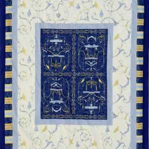 Bassetti Plaid Oplontis V9 blau mediterran Wohndecke Decke