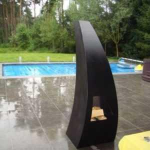 Maca Black Garten-Feuer Terrassen-Feuer Feuerstelle Terrassen-Ofen Holz-Kamin