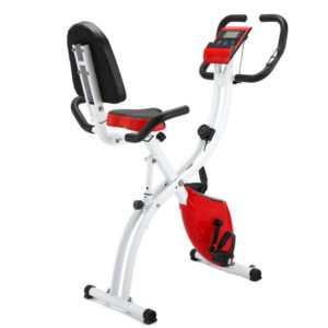Klappbarer Heimtrainer, Ergometer Fahrrad, Fahrradtrainer, Fitnessbike Trimmrad