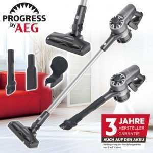 Progress by AEG 21,6V 2in1 Akku Boden Staubsauger Akkusauger Handsauger kabellos