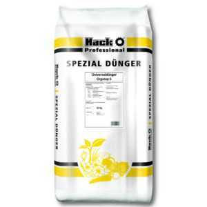 HACK PROFI Orgatop 5 Universaldünger 25 kg Gemüsedünger Rasendünger Profi