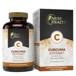 CURCUMA EXTRAKT - 100 Kapseln á 500 mg - 98% Curcumin = 15.750 mg Pulver Vegan