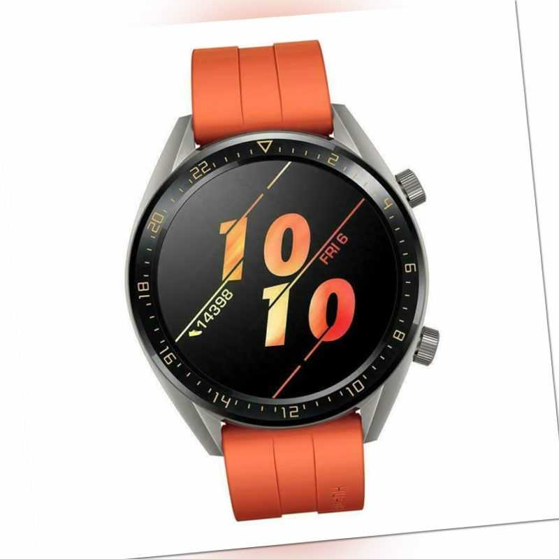 Huawei Watch GT 46mm Smartwatch Fitnesstracker Orange Herren Uhr Sport GPS NEU
