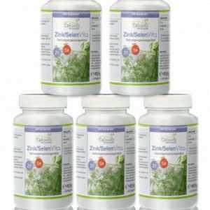 Cellavita Zink-Selen Koriander Vita Vorsorgepaket 5 x 90 Kapseln Tabletten