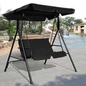 Hollywoodschaukel Gartenschaukel Schaukel Schaukelbank mit Sonnendach 2 Sitzer